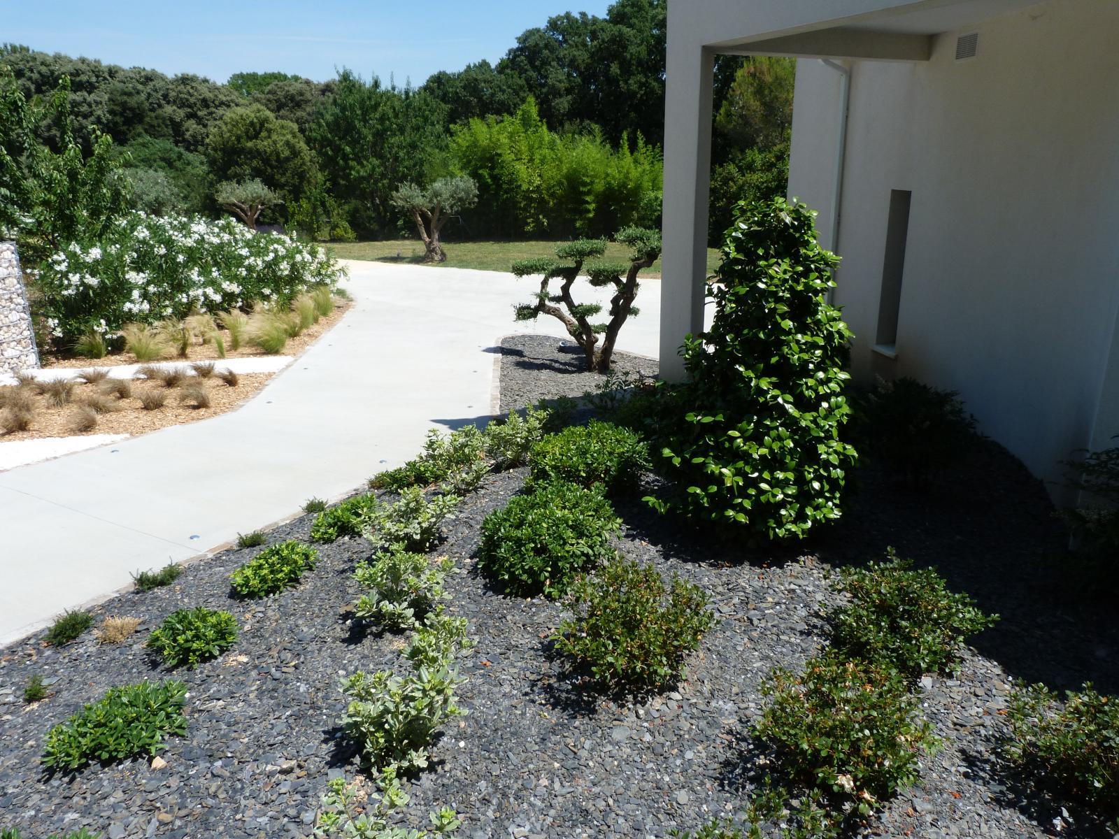 Paillage Mineraux Vert Parc Createur De Jardins
